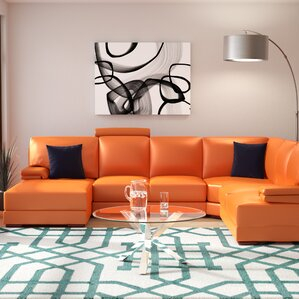 Cana Leather Sectional by ..