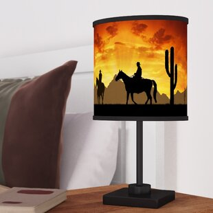 Cowboy lamps wayfair castillo western cowboys 1688 table lamp mozeypictures Image collections