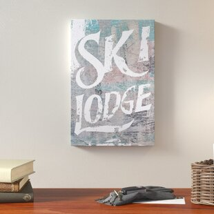 Merveilleux Ski Lodge Textual Art On Canvas