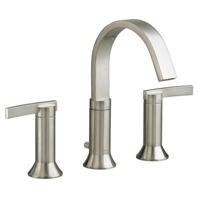 Berwick High Arc Widespread Bathroom Faucet With Speed Connect Drain American Standard Finish: Satin