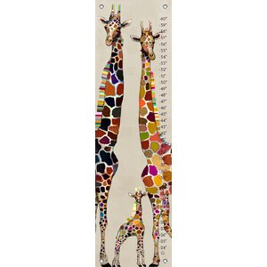 George Giraffe Family Canvas Growth Chart