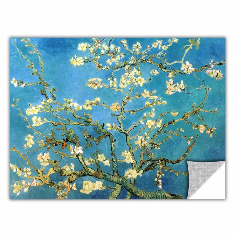 ArtWall Almond Blossom by Vincent Van Gogh Art Appeelz Removable