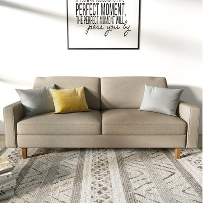 Turn on the Brights Glennon Sofa Upholstery: Beige