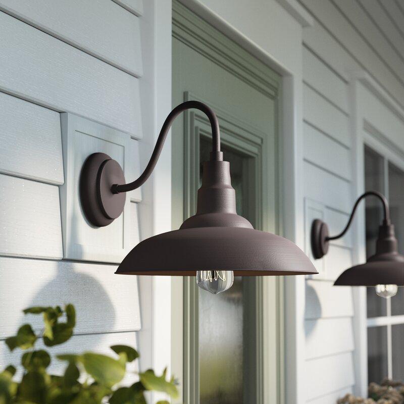 Gracie Oaks Brummett Outdoor Barn Light & Reviews
