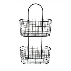Wall Hanging Storage Baskets cheungs metal wall hanging storage basket & reviews | wayfair