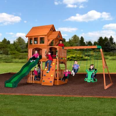 Backyard Discovery Tanglewood All Cedar Swing Set Reviews Wayfair