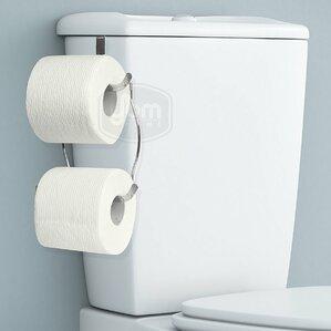 tank mount toilet paper holder