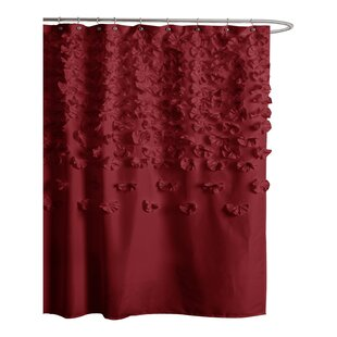 Nature Floral Red Shower Curtains