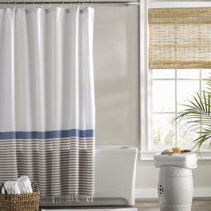 beige striped shower curtain.  Striped Shower Curtains You ll Love Wayfair
