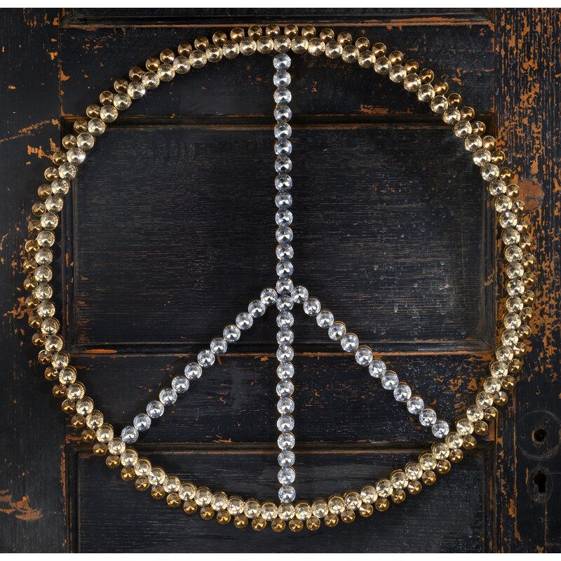 3-Tone Acrylic Bling Peace Sign Wall Décor