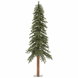 6 green pine artificial christmas tree - Skinny Christmas Trees
