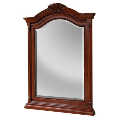 Gus Arch Crowned Top Brown Bathroom Mirror