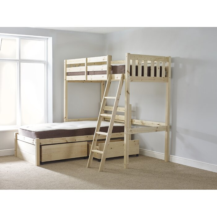 Just Kids Cumbria L Shaped Bunk Bed With Drawers Reviews Wayfair