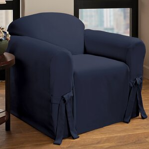 Tie Cotton Blend Armchair Slipcover