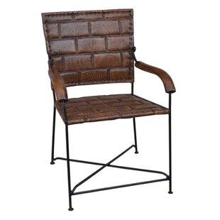 Buffalo Leather And Iron Armchair