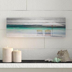 By The Beach Parvez Taj Framed On Canvas Gray
