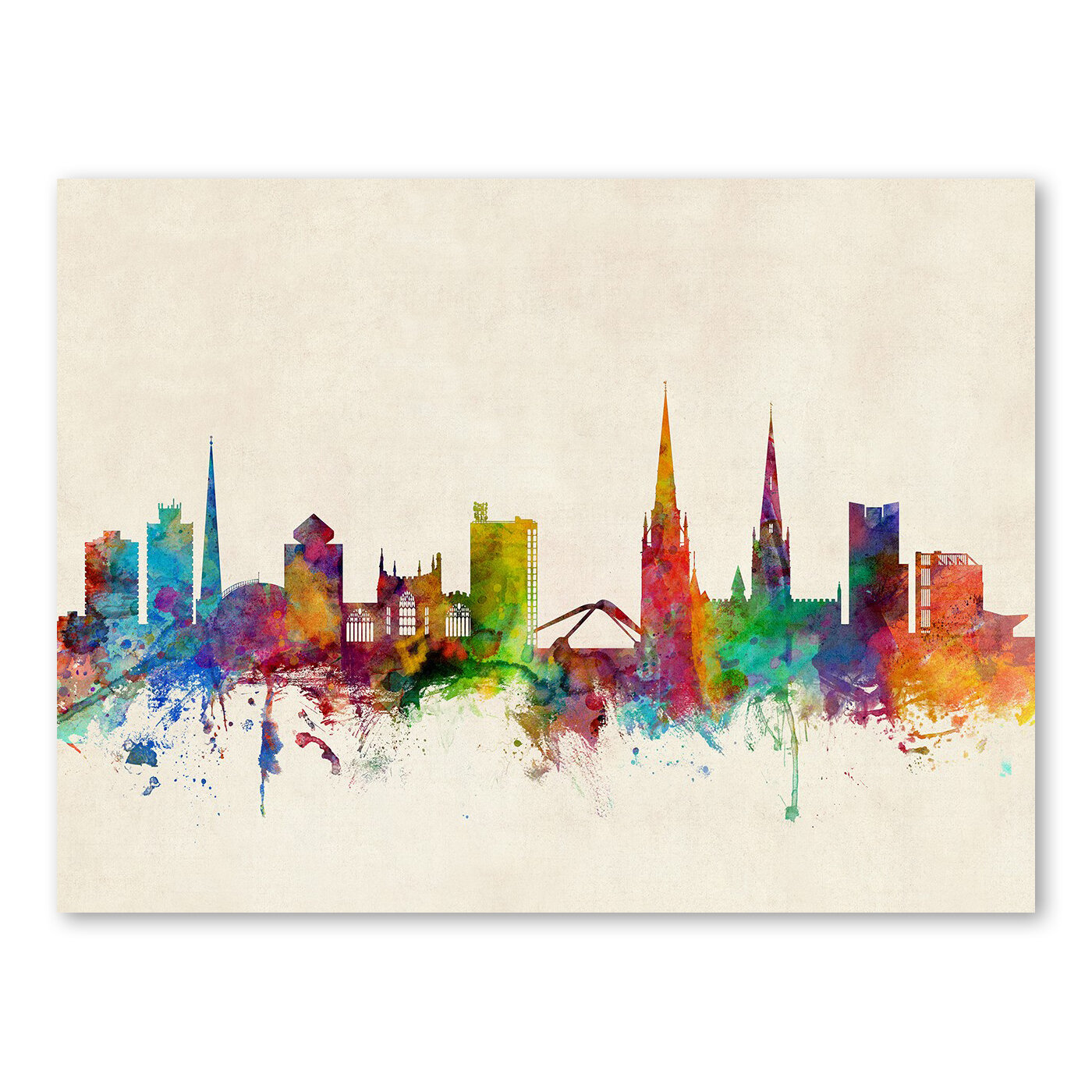 Americanflat coventry england skyline wall mural wayfair for England wall mural