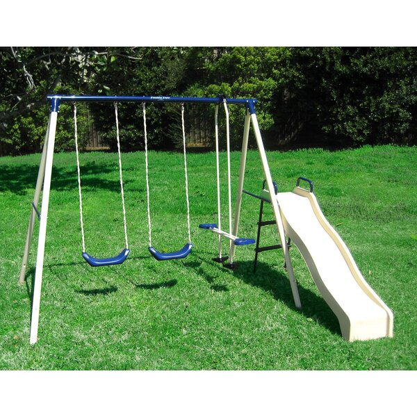 Flexible Flyer Swing N Glide Gym Swing Set Reviews Wayfair