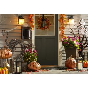 lighted spooky cat halloween decoration - Lighted Halloween Decorations