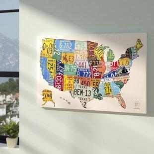 Usa License Plate Map | Wayfair