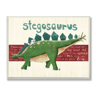 Stella U0027Stegosaurus Dinosauru0027 Graphic Art Wall Plaque