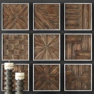 Rustic Wooden Square Wall Décor