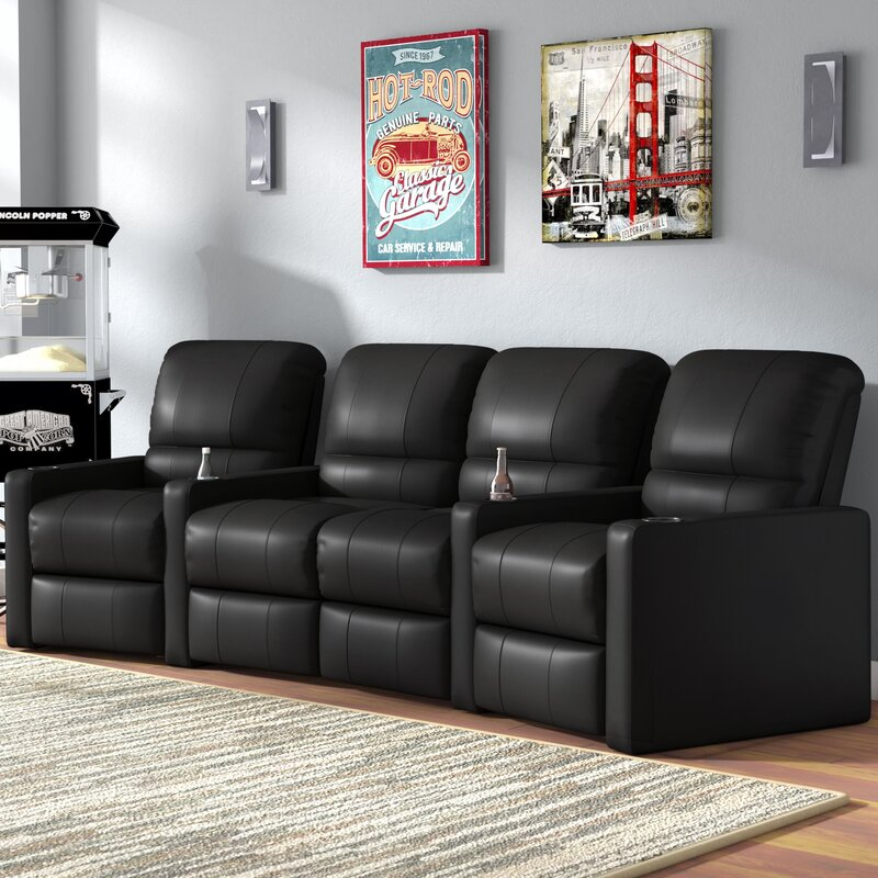 Laude Run Center Home Theater Curved Row Seating Of 4 Reviews Wayfair