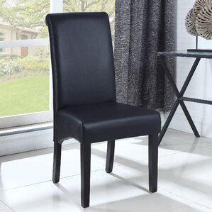 Leather Dining Side Chair (Set of 2) by B..