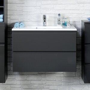 Held Möbel 80 cm Waschtisch Cardiff mit Armatur