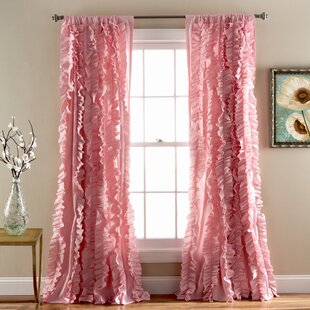 Rieder Pink Single Curtain Panel
