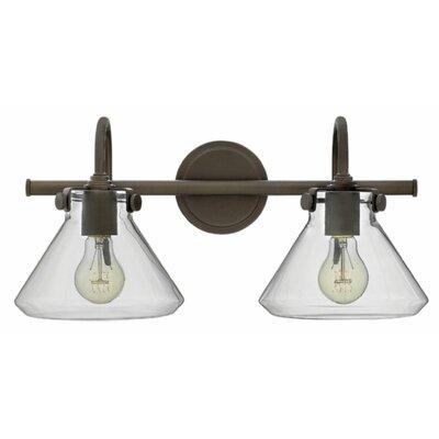 Ebern Designs Dingess 2-Light Vanity Light Finish: Oil Rubbed Bronze