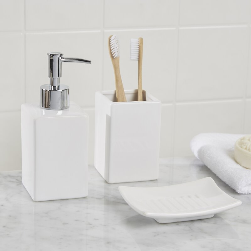 Delightful Osseo 3 Piece Bathroom Accessory Set