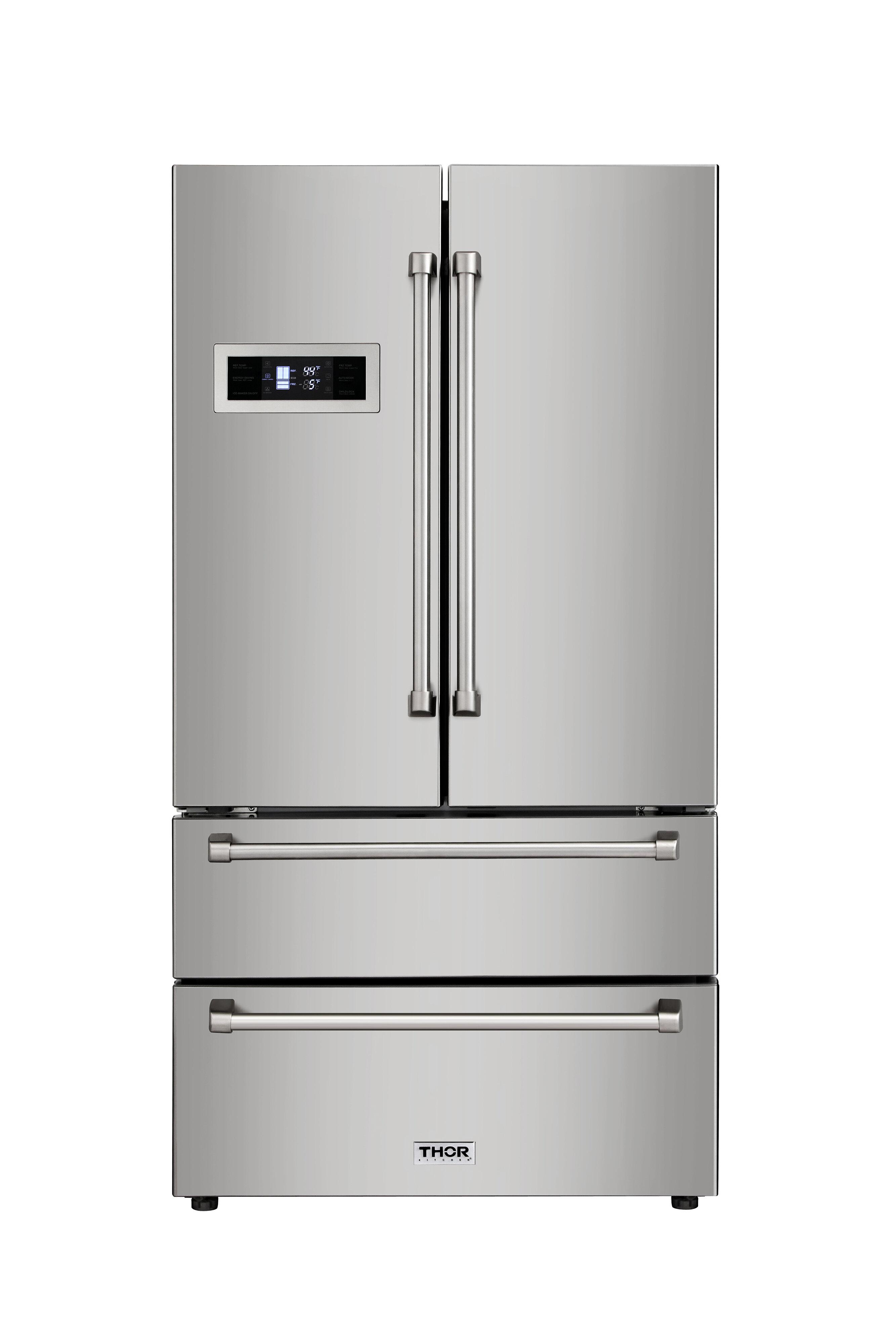 ThorKitchen 20.85 Cu. Ft. Counter Depth French Door Refrigerator U0026 Reviews    Wayfair