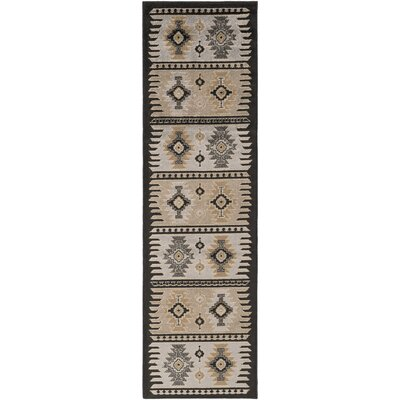 World Menagerie Market Barley/Safari Tan Area Rug Rug Size: Runner 2'2 x 7'6