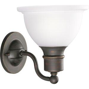 Gradall 1-Light Bell Shade Armed Sconce