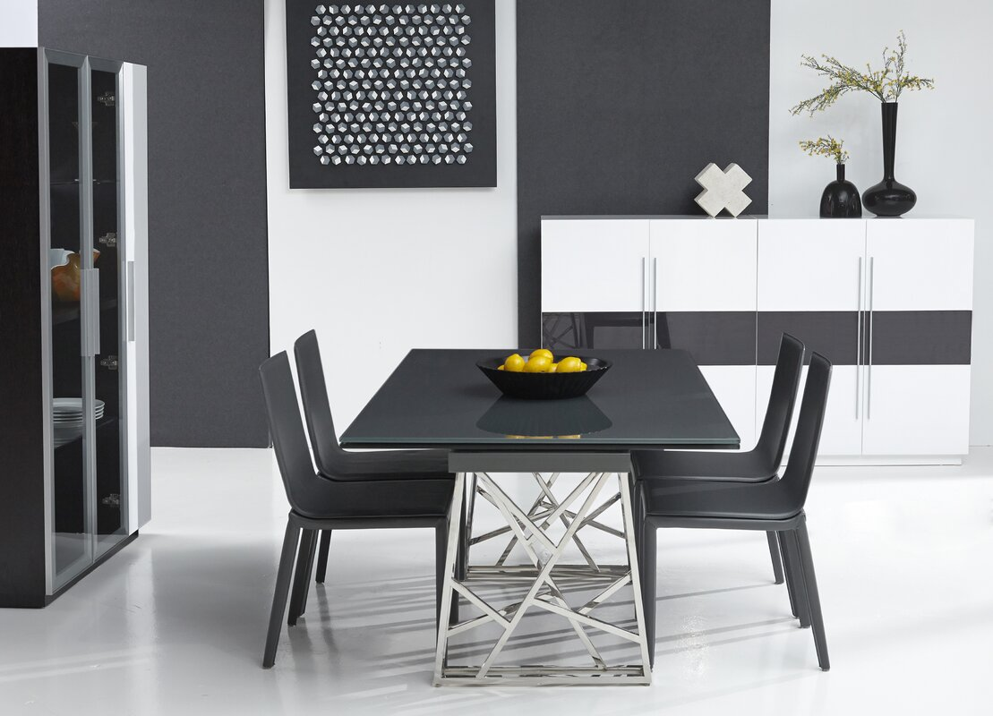 Expandable Dining Room Tables Bellini Modern Living Borg Expandable Dining Table & Reviews  Wayfair