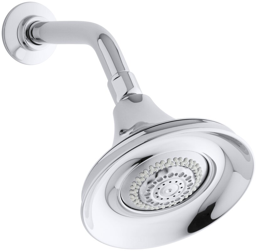 Kohler Forté 2.5 GPM Multifunction Wall-Mount Shower Head ...
