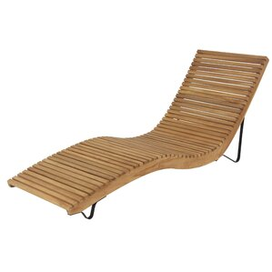 Wilhite Modern Teak Wood Curved Comfort Chaise Lounge  sc 1 st  AllModern : wood chaise lounge - Sectionals, Sofas & Couches