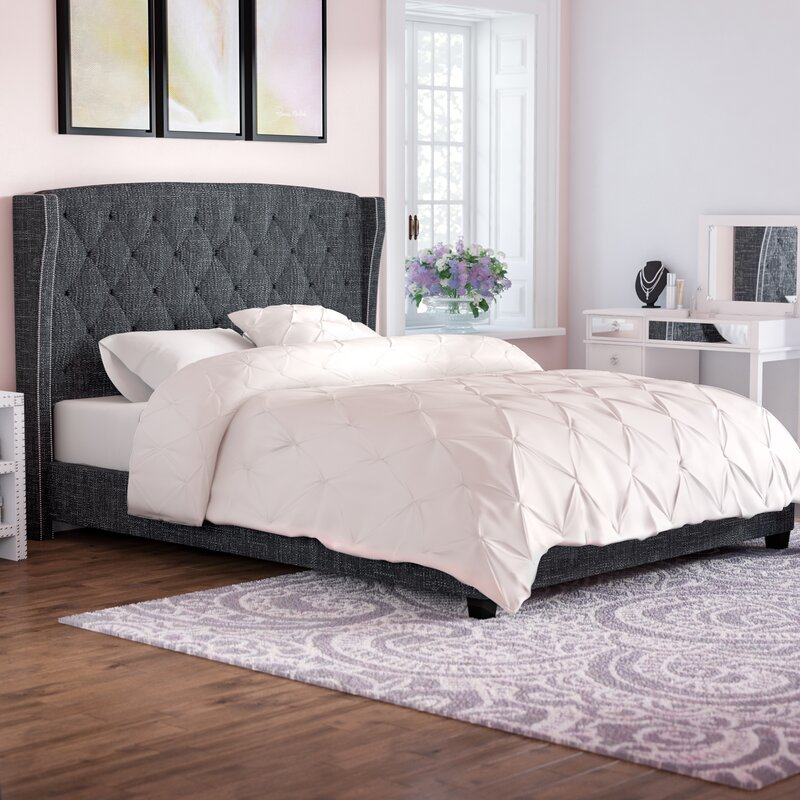 Willa Arlo Interiors Destiny Upholstered Panel Bed & Reviews | Wayfair