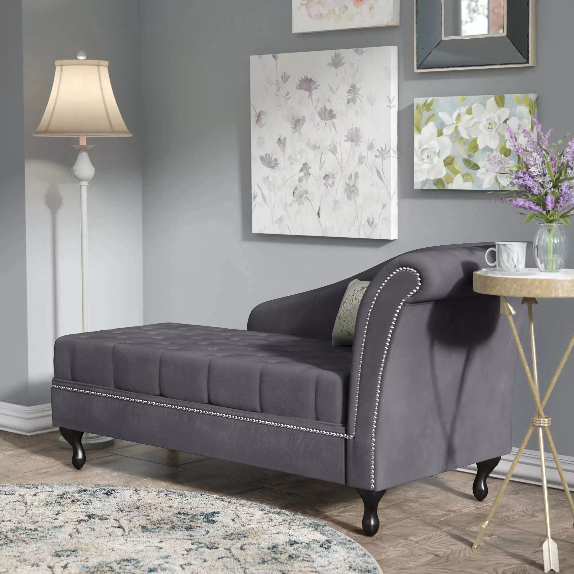 Living Room Chaise Lounger Modern Livingroom
