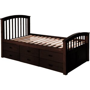 Solid Wood Storage Twin Platform Bed with 6 Drawers by Merax