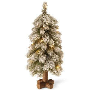 2' Bayberry Cedar Tree with Battery Operated LED Lights