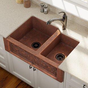 Farmhouse Sinks You'll | Wayfair on u shaped contemporary kitchens, u shaped bathroom vanity, v shaped kitchen sink, u shaped copper sink,
