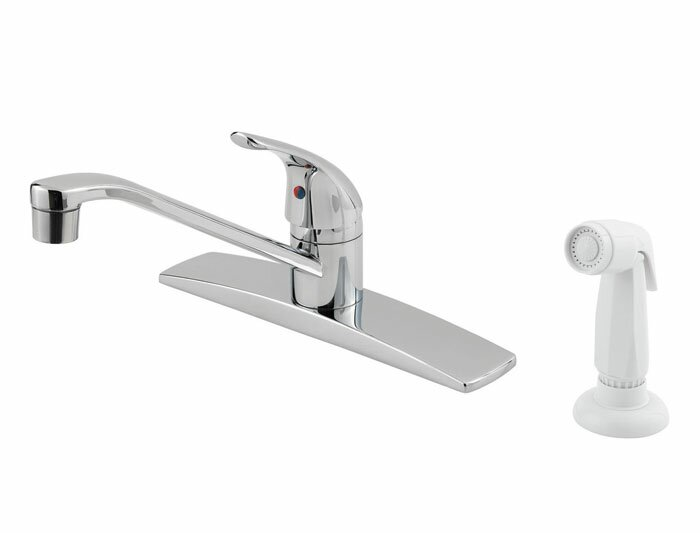 Pfirst Series Single Handle Deck Mounted Kitchen Faucet with Side Spray