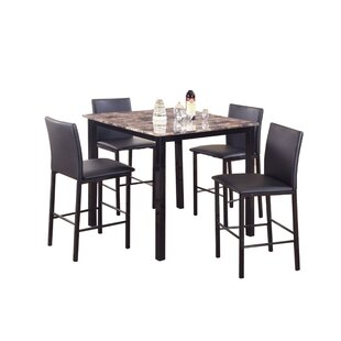 Ontiveros 5 Piece Counter Height Dining Set