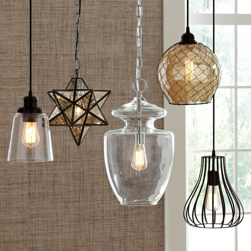 Charlton 1-Light Geometric Pendant : lighting foyer - www.canuckmediamonitor.org