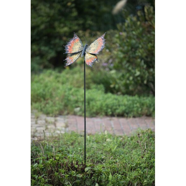 Sunjoy Metal Butterfly Garden Stake U0026 Reviews | Wayfair