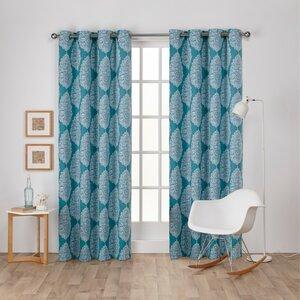 Queensland Geometric Blackout Thermal Grommet Curtain Panels (Set of 2)