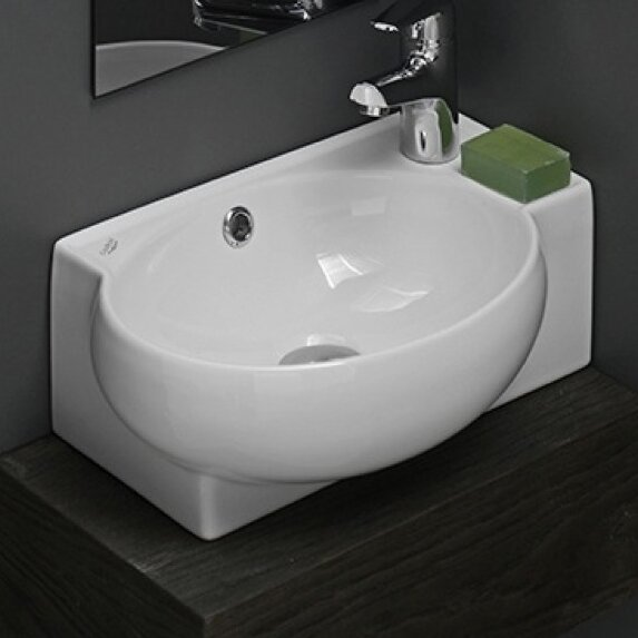 Mini Ceramic Vessel Bathroom Sink With Overflow