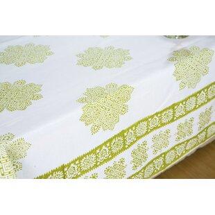 Dexmoor Handmade Sage Midori Block Printed Tablecloth (Set Of 2)